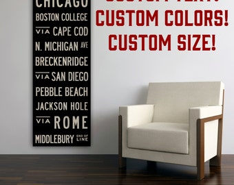 FREE Customization Typographic Wall Art Gallery Wrapped Canvas SIGNED  Wedding Anniversary Gift