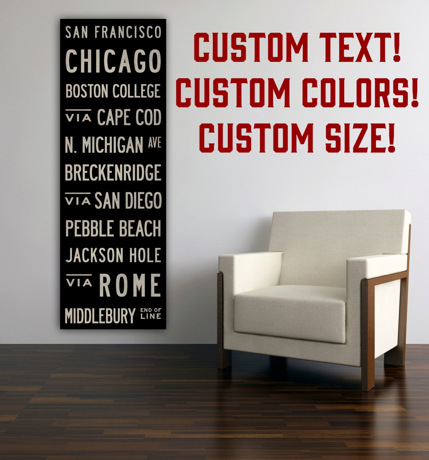 FREE Customization Typographic Wall Art Gallery Wrapped Canvas