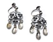 Ottar Hval Norway Silver Sølje Earrings