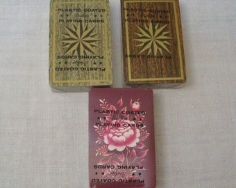 Vintage 3 Decks of Sealed Bridge Playing Cards with Stamp