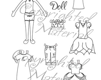 Printable Paper Doll Girl for Coloring
