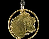 Cut Coin Jewelry - Pendant - Ethiopia - Lion