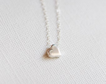 Mini Heart Necklace Sterling Silver
