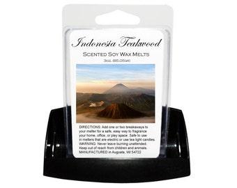 INDONESIA TEAKWOOD Soy Melts // Wax Tarts // Soy Tarts // Candle Tarts // Melting Tarts // Scented Tarts // Dye Free