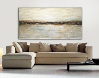 "6 Foot Painting Original Large Landscape Earth Tones 6ft Abstract Art Oil Painting 36x72 HUGE Modern Art Work 72"" Painting FREE SHIPPING"