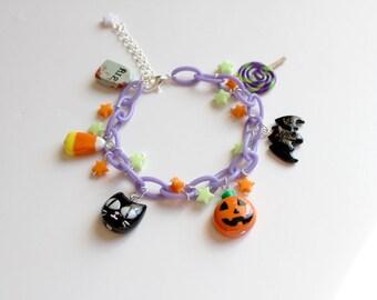 Spooky Halloween Charm Bracelet