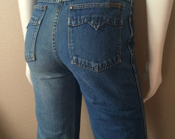 Vintage Women's 80's Tusk Jeans, High Waisted, Medium Wash, Denim (M)
