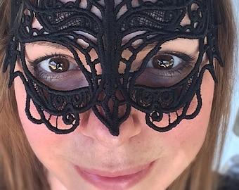Abstract lace Bat web mask
