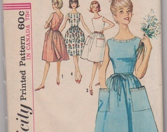 """Simplicity 5460 """"Misses' One-Piece Back-Wrap Dress"""" Size 14 Bust 34"""" INCOMPLETE"""