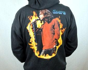 Distressed RARE Lot Vintage 1990s 90s The DOORS Jim Morrison Hoodie Sweatshirt