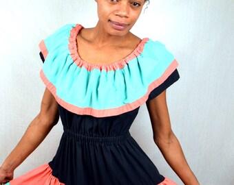 Vintage 1980s does the 50s Designer Square Dancing Dress - Audrey Coleman