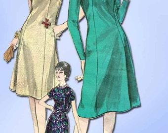 1960s Vintage Vogue Sewing Pattern 5629 Misses Princess Dress Size 14 34 Bust