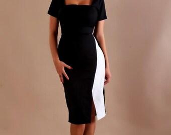 MARTINA pencil runway dress inspired from custom made