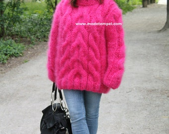 Sweater super kid mohair hand knitted FOR ORDER ONLY