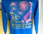 New Orleans French Quarter 1980s long sleeve vintage tee shirt - size large