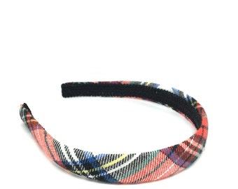 Plaid Headband - Tartan Plaid Headband Preppy -  White, Red, Black, Blue, Yellow Green - Blair Waldorf - Girls and Women's Headbands