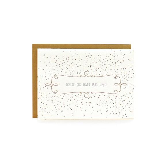 Silver and Gold Letterpress Christmas cards, splatter, set of 8