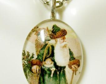 Saint Nicholas pendant with chain - GP12-350 cameo style