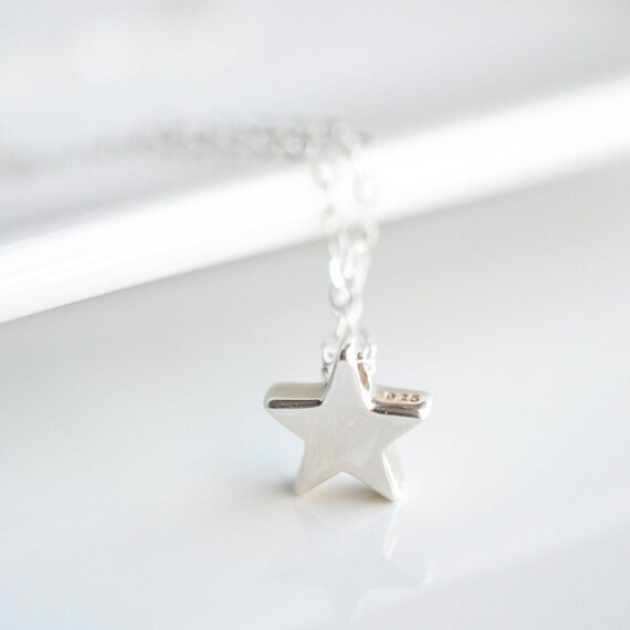 Tiny Star Necklace - Sterling Silver Layering Necklace - Shooting Star - Wishing Star Necklace - Teen Girl Gift - Silver Minimalist Necklace