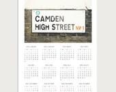2016 Wall Calendar - Camden High Street Photography