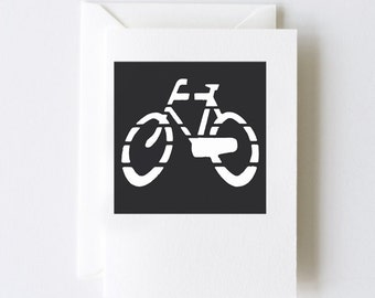 Bike Road Sign Greeting Cards - Set of 5 Note Cards