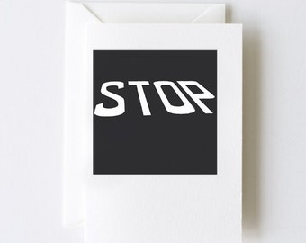 Stop Road Sign Greeting Cards - Set of 5 Note Cards