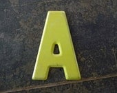 MARQUEE Letter A Vintage Steel Metal Letter Signage