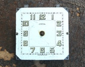 Salvaged Alarm CLOCK Parts Large Round Watch Movement Plates Pieces