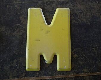 Vintage Letter M Steel Marquee Sign Metal Letter Signage -4-