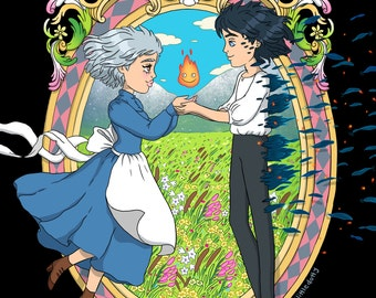 A4 Howl's Moving Castle Print