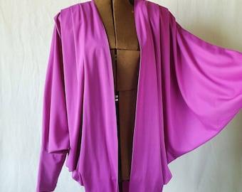 80s 90s Fuchsia batwing jacket Size Large