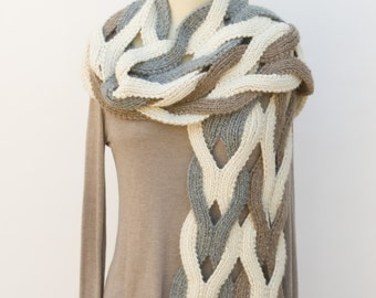 Japanese Weave Wrap PDF Knitting Pattern Instant Download