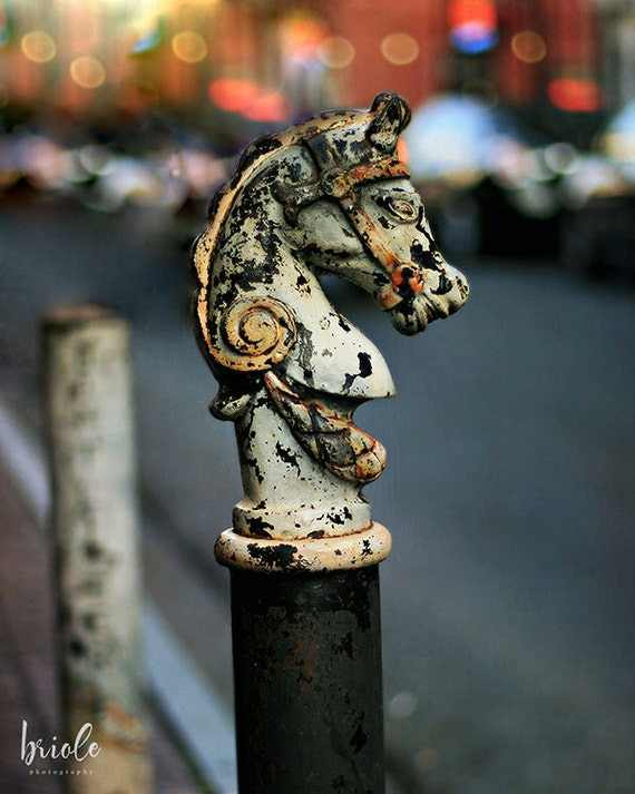 "New Orleans Wall Art. ""Hitching Post #1"" French Quarter  Photograph. Mardi Gras Affordable Home Decor. 8x10, 11x14, 16x20, 20x24, 24x30"