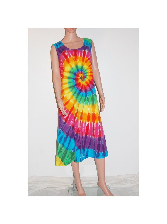tie dye dress rainbow pinwheel tye dye s tank top