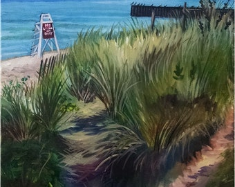 Beach Dunes Landscape - 16x20 Original Oil Painting