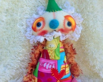 Party Pal Art Doll - a Soft Sculpture sweet Whimsical Creation