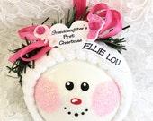 Granddaughter's 1st Christmas Ornament -Baby Ornament - Personalized Christmas Ornament - Baby Shower Gift - Baby Girl Christmas Ornament