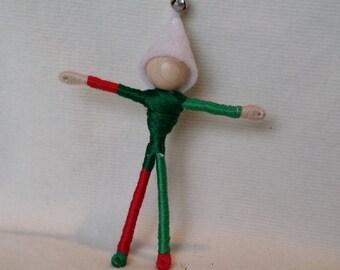 Christmas Elf - Santa's helper - Waldorf doll, bendy doll, art, worry doll, art doll