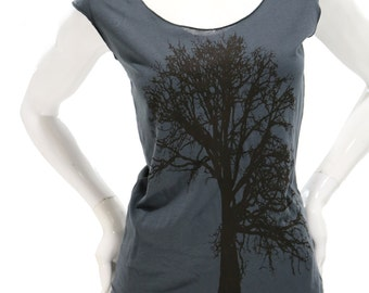 Oak tree T Shirt. Sexy Soft Jersey top. Art by MATLEY. American Apparel lightweight Tshirt. Gift for her. Tree hugger. sexy top. Yoga.