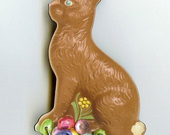 Chocolate Easter Bunny  pin