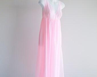 Pretty Pink Maxi Nightgown -Sz S