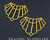 Exclusive - 6pcs Raw Brass Geometry Charm / Pendant, Fit For Necklace, Earring, Brooch (RD251)