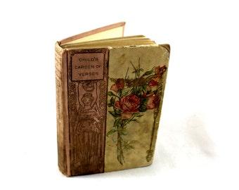 Antique Child's Garden of Verses. By Robert L Stevenson. Henry Altemus Co. Petit Trianon. Series 143. 1902-1903 Victorian Childrens Book