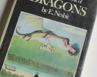 Vintage Dragon book - The Complete Book of Dragons - All 9 stories by E Nesbit from 1899 to 1925 in 1 volume, Dad Fathers Day Birthday Gift