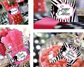Barbie Retro Vintage Candy Table Buffet Label Party Printable - Stick to Your Story