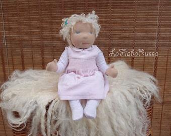Waldorf cloth Newborn baby  doll Lilia 19 in, OOAK Doll, Handmade Doll, Waldorf Doll, Art Doll, Collectible Doll, Soft Doll Baby Doll