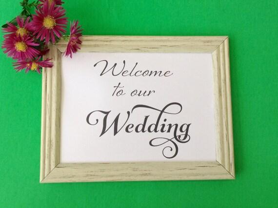 Wedding Printable Sign, Welcome Sign Printable DIY Digital Download 8 x 10 & 5 x 7