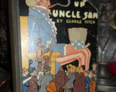 1914 Sizing Up Uncle Sam Antique Book Humorous Facts about the USA