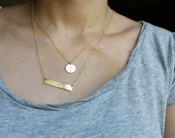 Hamsa Disc Necklace -14K Goldfilled Or  925 S- Evil Eye Protection Necklace