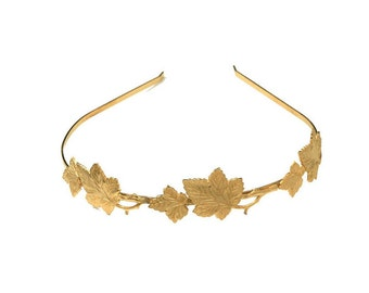 Loraine crown, Gold Leaf Headband, Greek Goddess Headband, Bridal Hair Accessories, Wedding Headband, Golden Leaves, Vines, Nature Inspired